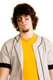 Baseball Player. A young male baseball player standing royalty free stock photos