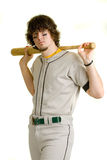 Baseball Player. A young male baseball player standing stock image