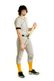 Baseball Player. A young male baseball player standing stock photography