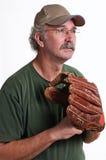 Baseball player. Glove man fielders mitt baseball Stock Image