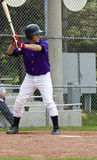 Baseball Player. Amateur baseball player in action royalty free stock image