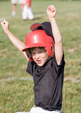 Baseball Player. Little Boy Cheering about the Game stock image