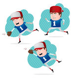 Baseball Player in Action Stock Image
