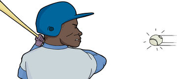 Baseball Player In Action Royalty Free Stock Photo