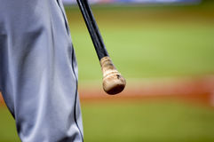 Baseball Player with Bat. Ball Park, Athlete, Background Stock Images