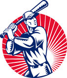 Baseball player batting Royalty Free Stock Images