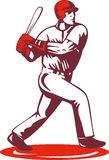 Baseball player batting Stock Images