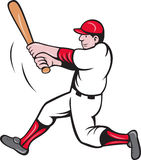 Baseball player batting cartoon Stock Image