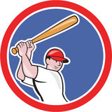 Baseball Player Batting Circle Cartoon Stock Images