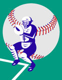 Baseball  player catcher Royalty Free Stock Image