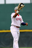 Baseball Player catching ball - Richie Robnett Stock Photo