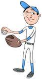 Baseball player character Stock Photo