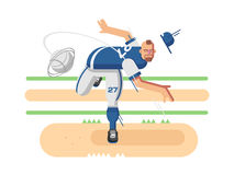 Baseball player character Royalty Free Stock Photography