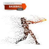 Baseball Player - Color Dot Illustration On The White Background. Stock Photography