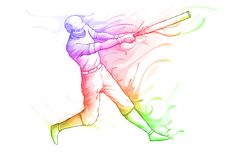 Baseball Player. Easy to edit vector illustration of baseball player striking vector illustration