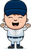 Baseball Player Excited Royalty Free Stock Photo