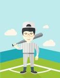 Baseball player on field Royalty Free Stock Photo