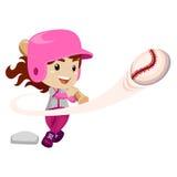 Baseball Player hit the Ball. Vector Illustration of Baseball Player hit the Ball Stock Image