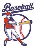 Baseball player hitting the ball Stock Photography