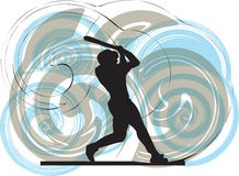 Baseball player. illustration. Baseball player illustration with abstract background, made in adobe illustrator Stock Image