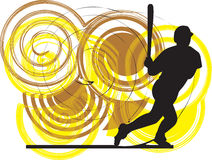 Baseball player. illustration. Royalty Free Stock Photography