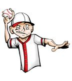 The Baseball Player Illustration. A simple illustration of a Kid throwing a baseball in color royalty free illustration