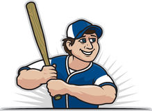 Baseball Player. Illustration of a baseball player holding a bat Stock Photos