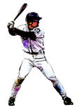 Baseball player illustration Stock Photos