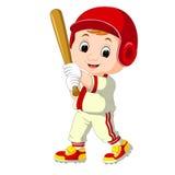 Baseball Player Kid cartoon Royalty Free Stock Photo