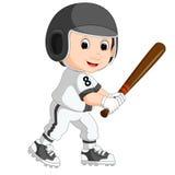 Baseball Player Kid cartoon Royalty Free Stock Photos