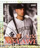 Baseball player - Matt Holida Stock Photo