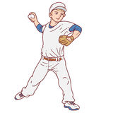 Baseball player pitcher man Royalty Free Stock Photo