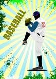 Baseball player poster Royalty Free Stock Photography