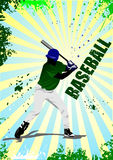 Baseball player poster Stock Images