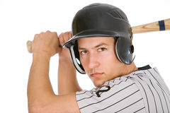 Baseball: Player Ready To Bat For Team stock photography