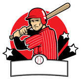 Baseball player ready to hit Stock Images