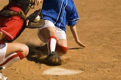 Baseball Player Running Sliding Into Base Stock Photos