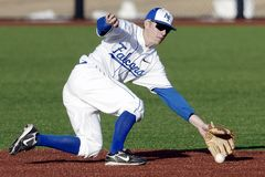 Baseball Player, Shortstop, Infield Royalty Free Stock Images