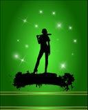 Baseball player silhouette Royalty Free Stock Photos