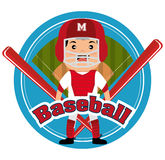 Baseball player sport icon Royalty Free Stock Photo