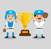 Baseball player sport icon Royalty Free Stock Photos