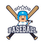 Baseball player sport icon Stock Photo