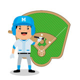 Baseball player sport icon Royalty Free Stock Image