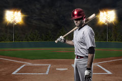 Baseball Player. On a baseball Stadium Stock Photos