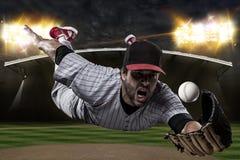 Baseball Player. On a baseball Stadium Stock Image