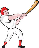 Baseball Player Swinging Bat Cartoon Royalty Free Stock Photo