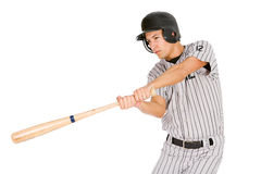Baseball: Player Swinging Bat stock images