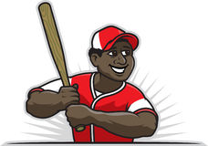 Baseball Player. Vector Illustration of a black baseball player Royalty Free Stock Image