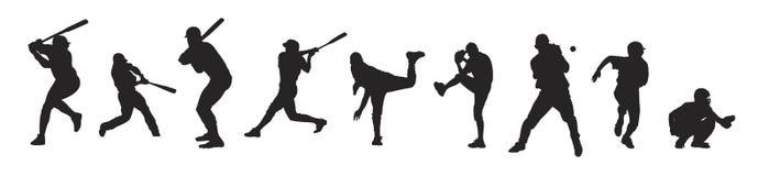 Baseball players vector illustration