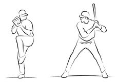 Baseball Players Royalty Free Stock Images